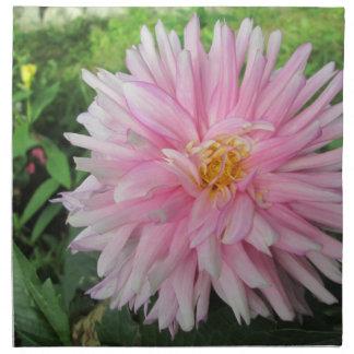 Flor rosada asombrosa de la dalia servilleta de papel