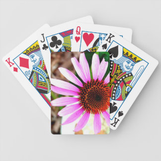 Flor rosada baraja cartas de poker