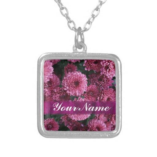 Flor rosada bonita colgante cuadrado