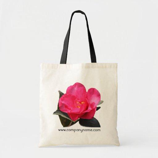 flor rosada bonita de la camelia. bolso del bolsa tela barata