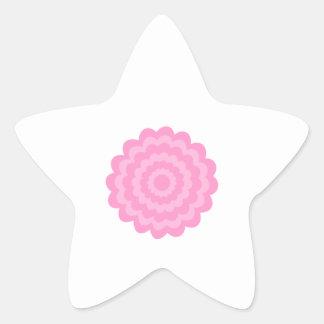 Flor rosada bonita Fondo blanco Calcomania Forma De Estrella Personalizadas
