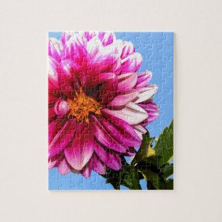 Flor rosada brillante puzzles