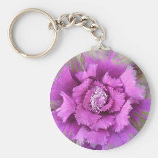 flor rosada con el llavero de la gotita de agua