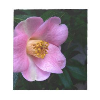Flor rosada de Camelia Bloc De Notas
