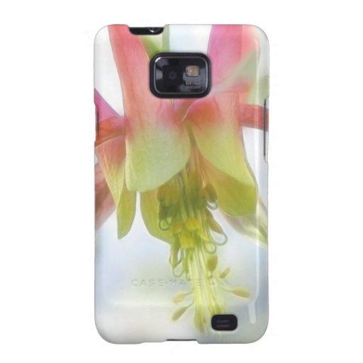 Flor rosada de Columbine Galaxy SII Carcasas