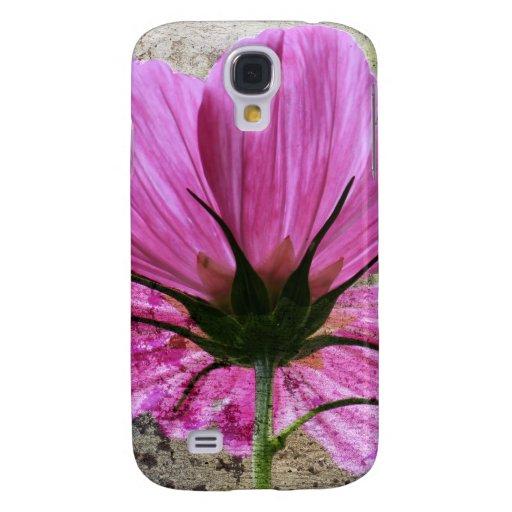 Flor rosada de Comos Funda Para Galaxy S4