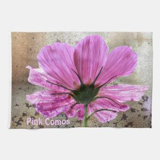 Flor rosada de Comos Toallas De Mano