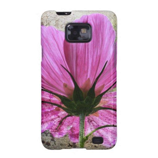 Flor rosada de Comos Samsung Galaxy SII Funda