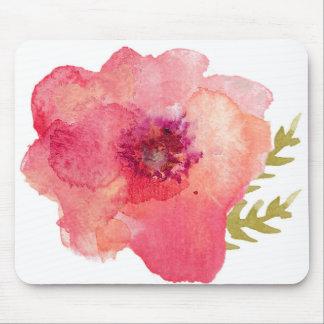 Flor rosada de la acuarela tapetes de ratones