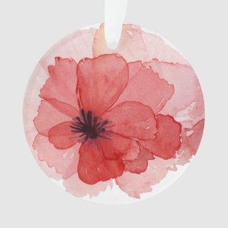 Flor rosada de la amapola de la acuarela bonita
