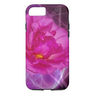 Flor rosada de la camelia funda iPhone 7