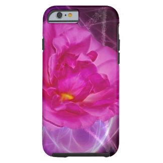Flor rosada de la camelia funda resistente iPhone 6
