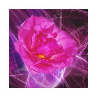 Flor rosada de la camelia impresión en lienzo