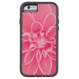 Flor rosada de la dalia funda de iPhone 6 tough xtreme