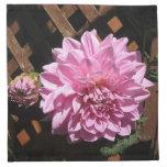 Flor rosada de la dalia servilletas de papel