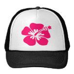 flor rosada de la hawaiana gorra