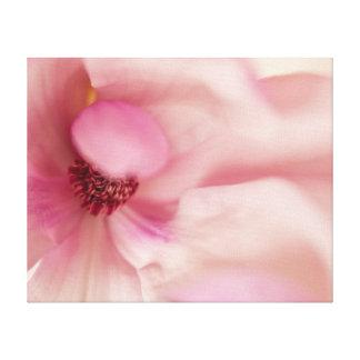 Flor rosada de la magnolia - plantilla de las impresión en lienzo