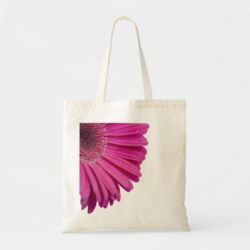 Flor rosada de la margarita con las gotitas de agu bolsa