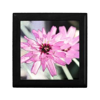 Flor rosada de la margarita Foto floral Art Cajas De Recuerdo