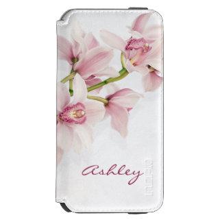Flor rosada de la orquídea del Cymbidium Funda Billetera Para iPhone 6 Watson
