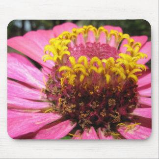 Flor rosada de los pistils amarillos alfombrilla de raton