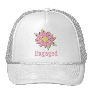 Flor rosada dedicada gorras de camionero