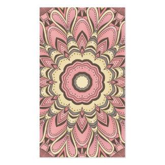 Flor rosada del amor - mandala tarjetas de visita