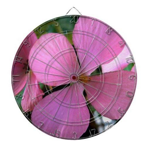 Flor rosada del amor tabla dardos