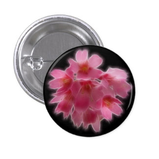Flor rosada del árbol de la flor de cerezo pin redondo de 1 pulgada