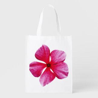 Flor rosada del bígaro bolsa reutilizable