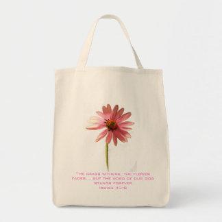 Flor rosada del cono la hierba Withers pero Bolsa Tela Para La Compra