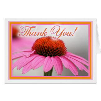 Flor rosada del cono tarjeta de felicitación
