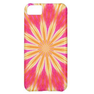 Flor rosada del lirio de limón funda para iPhone 5C