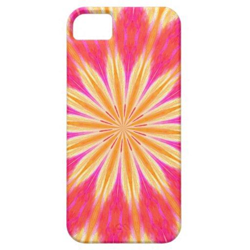 Flor rosada del lirio de limón funda para iPhone SE/5/5s