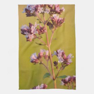 Flor rosada del orégano toallas de mano