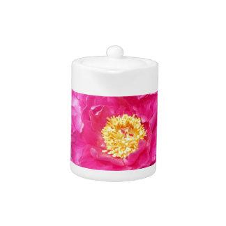 Flor rosada del Peony con el centro amarillo