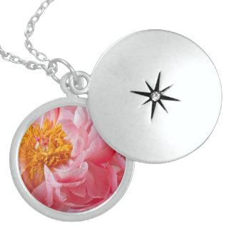 Flor rosada del Peony de la primavera - plantilla  Colgantes Personalizados