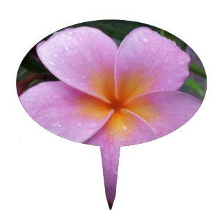 Flor rosada del Plumeria de Hawaii Decoraciones Para Tartas