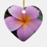 Flor rosada del Plumeria de Hawaii Ornamento De Reyes Magos