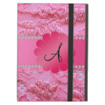 Flor rosada del rosa del cordón del monograma