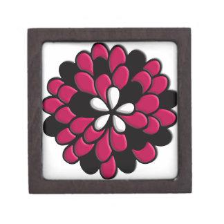Flor rosada del vitral cajas de regalo de calidad