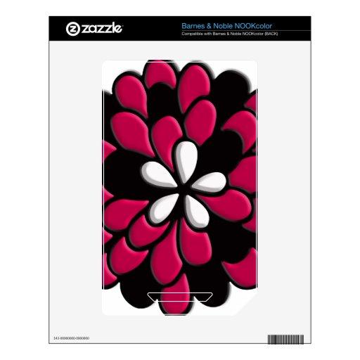 Flor rosada del vitral NOOK color skins