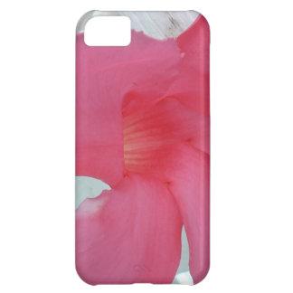 Flor rosada en la plena floración, vista lateral funda para iPhone 5C