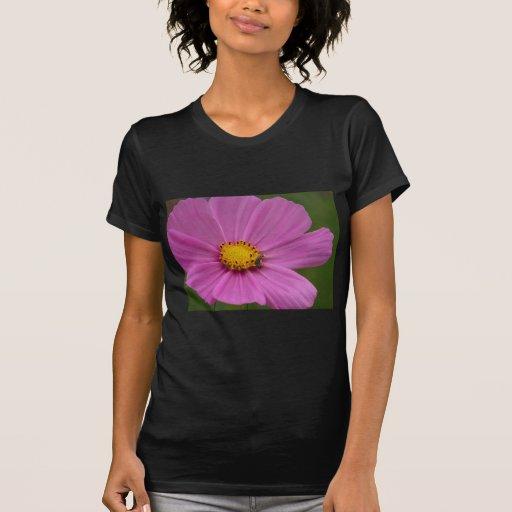 Flor rosada en una tarjeta o un regalo camiseta