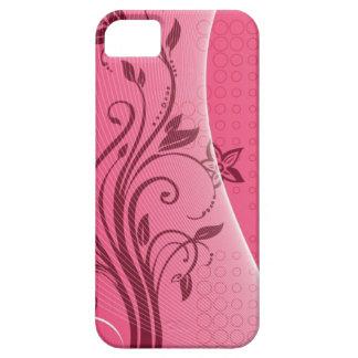 flor rosada funda para iPhone SE/5/5s