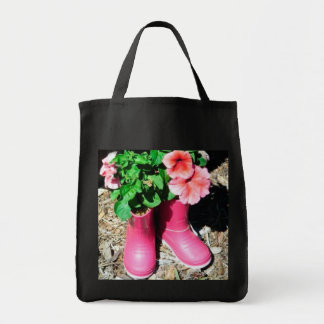 Flor rosada Hagbag de la bota Bolsas De Mano
