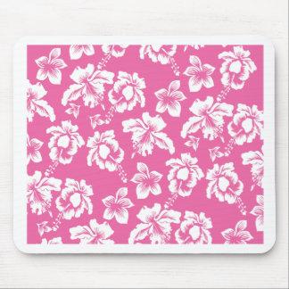 Flor rosada hawaiana alfombrillas de raton