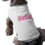 Flor rosada hawaiana camisetas mascota