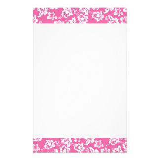 Flor rosada hawaiana  papeleria