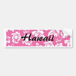 Flor rosada hawaiana pegatina para auto